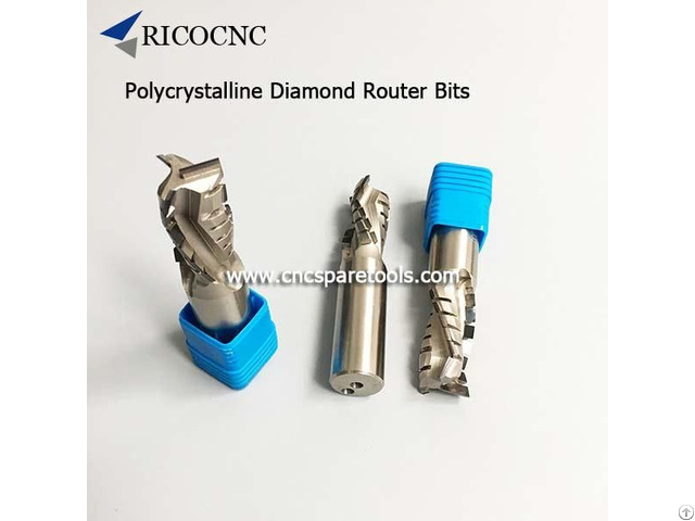 Polycrystalline Diamond Router Bits Pcd Cutting Tools For Cnc Nesting