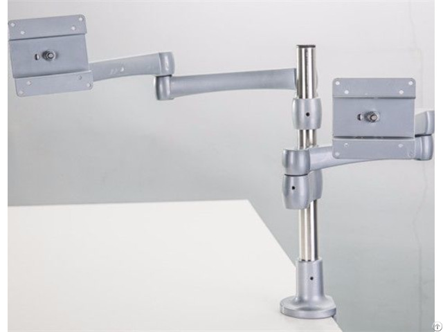 Adjustble Ergonomic Uplift Desk Mount Made In China Dual Lcd Monitor Arm