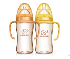 240ml Ppsu Wide Neck Dual Color Feeding Bottle