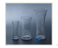 Cracked Glass Vases