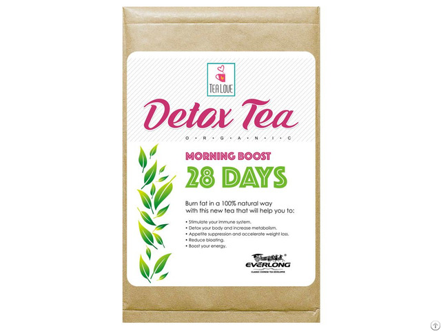 100% Organic Herbal Detox Slimming Weight Loss Tea Morning Boost 28 Day