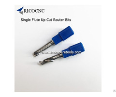 Single Flute Spiral Cnc Router Bits Solid Carbide Up Cut Cutters For Woodworking