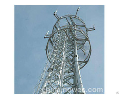 China High Strength Anti Seismic Corrosion Four Tubes Communication Tower Supplier