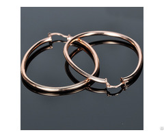 Fashion 925 Sterling Silver Rose Gold Plated Stud Hoop Earrings Jewelry