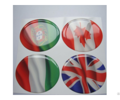 Uv Resistant 3m Adhesive Epoxy Pu Resin Domed Stickers
