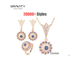 China Gravity Costume Imitation Gold Plated Necklace Jewellery Sets