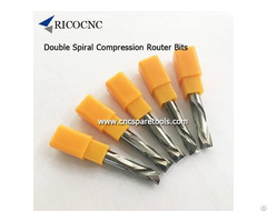 Carbide Compression Router Bits Double Spiral Cutters For Mdf Laminate Carving