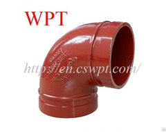 Grooved Ductile 90 Elbow Iron Pipe Couplings And Fittings Wpt Manufacturer