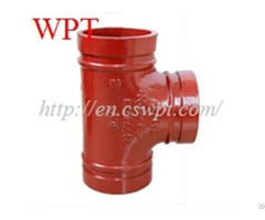 Equal Grooved Tee Ductile Iron Fittings Overground For Fire Fighting
