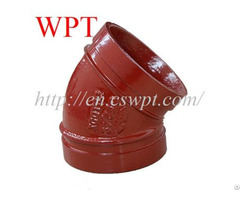 Grooved Ductile 45 Elbow Iron Pipe Couplings And Fittings Wpt Supplier