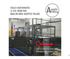 Fully Automatic 3 25l Web Fed Bib Filling Machine Juice Dairy Bag In Box Aseptic Filler