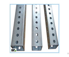 Free Sample Perforated Steel Square Sign Posts