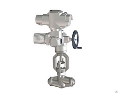 Forged Steel Motor Operated Globe Valve Bonnetless