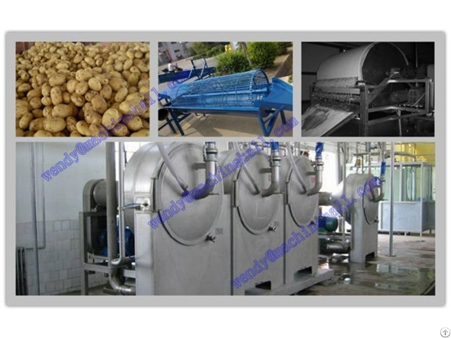 500kg H Potato Starch Processing Equipment
