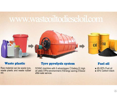 Waste Tyre Into Fuel Oil Pyrolysis Plant