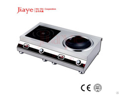 5000w X2 Two Burners Desktop Commercial Induction Cooker Flat And Concave