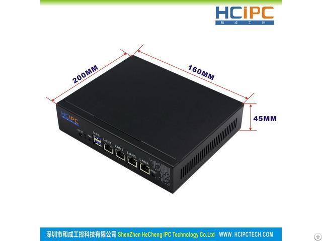 Hcipc B201 M22 Hcl Sj1900 4lc Intel J1900 Cpu 4lan 82583v Mini Router Firewall System