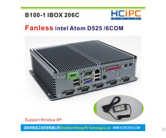 Hcipc B100 1 Ibox 206c Intel Atom525 Fanless Industrial Mini Box Pc With Any Cable 6com R232