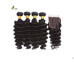100% Strength Human Hair Weave Bundles No Split With Machine Double Weft