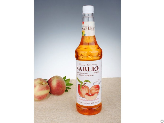 French Flavor Syrup Peach 900ml Lent Fascinating To Your Beverage