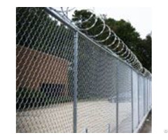 Chain Link Mesh Fencing With Barbed Wire