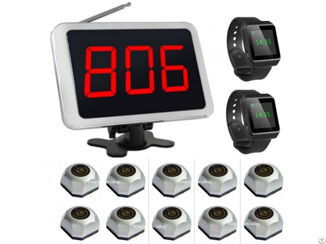 Wireless Calling System Watch Pager Receiver