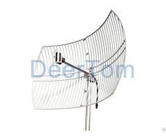 2700mhz Wimax 4g Lte Grid Parabolic Antenna 24dbi High Gain