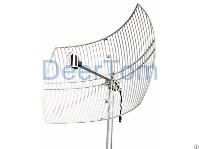 2400mhz 2 4ghz Wifi Wlan Outdoor Directional Grid Parabolic Antenna 24dbi High Gain Base Station
