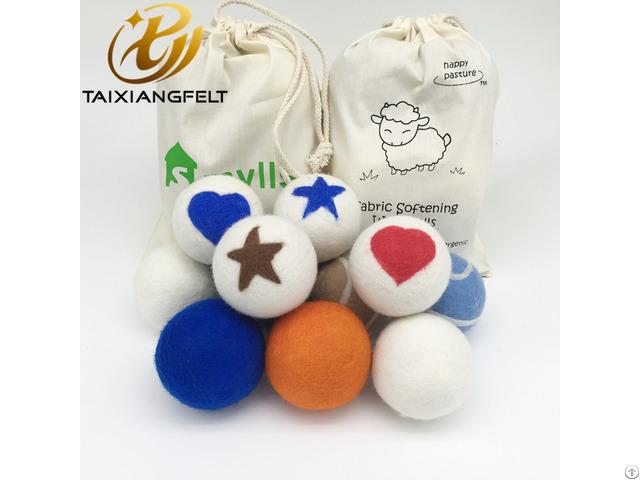 Six Pack Xl Premium 100% Merino Wool Felt Laundry Dryer Balls New