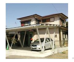 Good Quality Waterproof Aluminum Pv Carport System Concrete Foundation 500kw