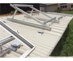 Adjustable Roof Solar Mounting System Flat Roofs Project China Manufacturer