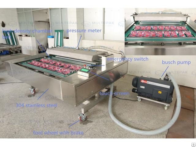 Automatic Continuous Conveyor Belt Vacuum Packaging Sealer Machine