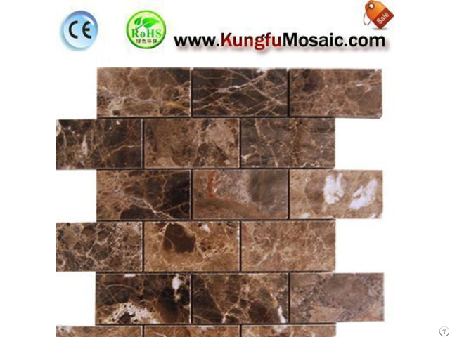 Brick Brown Marble Mosaic Tile Floor