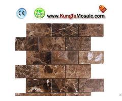Brick Brown Marble Mosaic Tile Floor