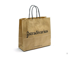 Custom Printed Retail Paper Color Shopping Carrier Bag
