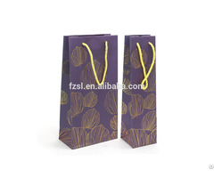 Paper Bag For Packing Wines Drinks Bottle