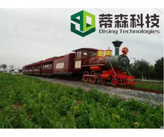 Wuhan Dising Open Type Amusement Park Mini Track Train With Ce Certification 63 Seats