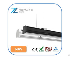 Led Linear Trunking System With Osram Chip 160lm W 5 Years Warranty