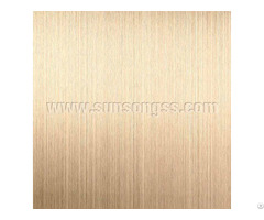 Pvd Brass Coated Hairline Stainless Steel Sheet