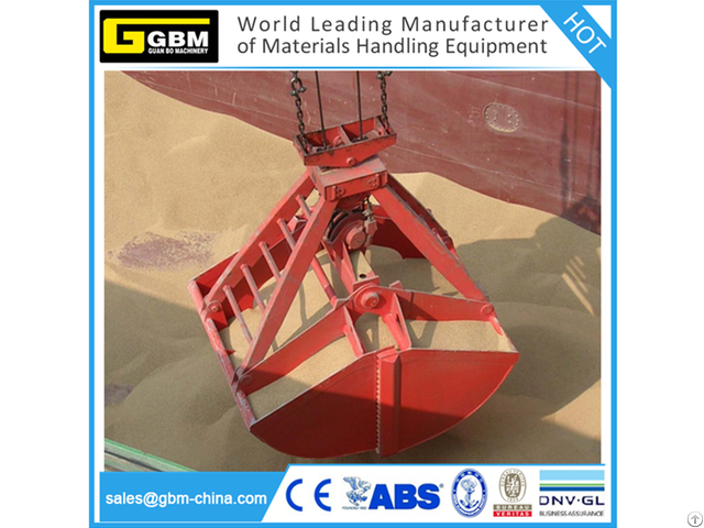 Four Rope Dual Scoop Mechanical Grab For Discharge Bulk Material