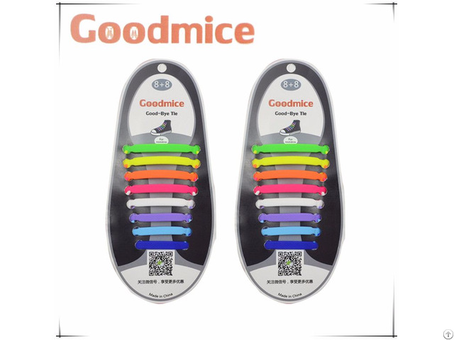 Silicone No Tie Shoelaces Elastic 16pcs Set