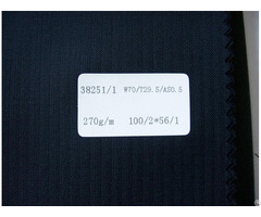 Excelled Herringbone Pinstriped Vigin Wool Suiting Fabric