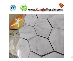 Indoor Bathroom Hexagon Carrara Mosaic Tiles