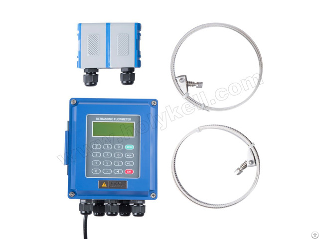 Holykell 15mm 6000mm China Portable Ultrasonic Water Flow Meter