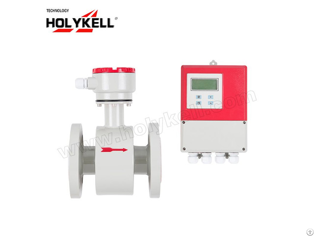 Holykell Oem 4800e Dn400 4 20ma Electromagnetic Water Flow Meter