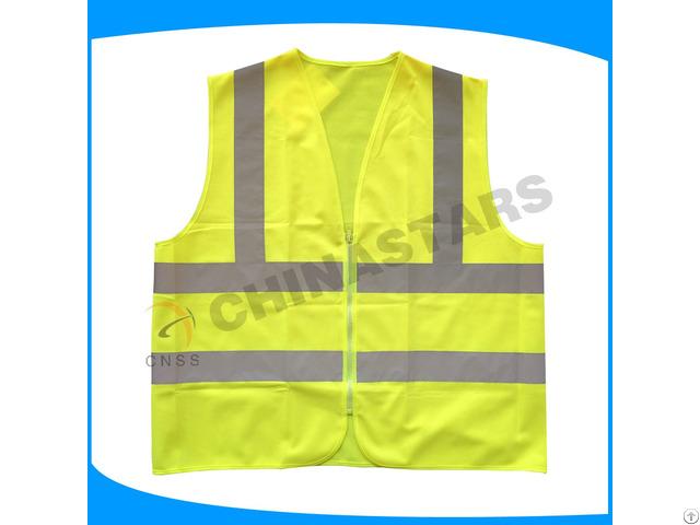 Customized Style Logo Polyester Warning Safety Reflective Vest