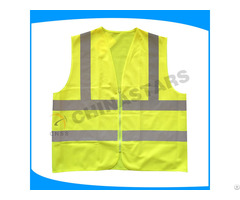 Customized Style Logo Polyester Warning Safety Reflective Vest