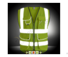 Hi Vis Workwear Security Jacket Reflective Gray Safety Vest Class 2
