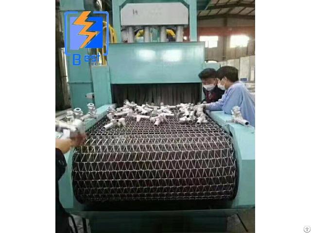 Wire Mesh Belt Roller Conveyor Shot Blasting Machine