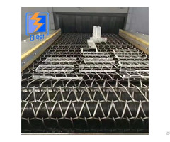 Continuous Wire Mesh Conveyor Belt Shot Blasting Machine